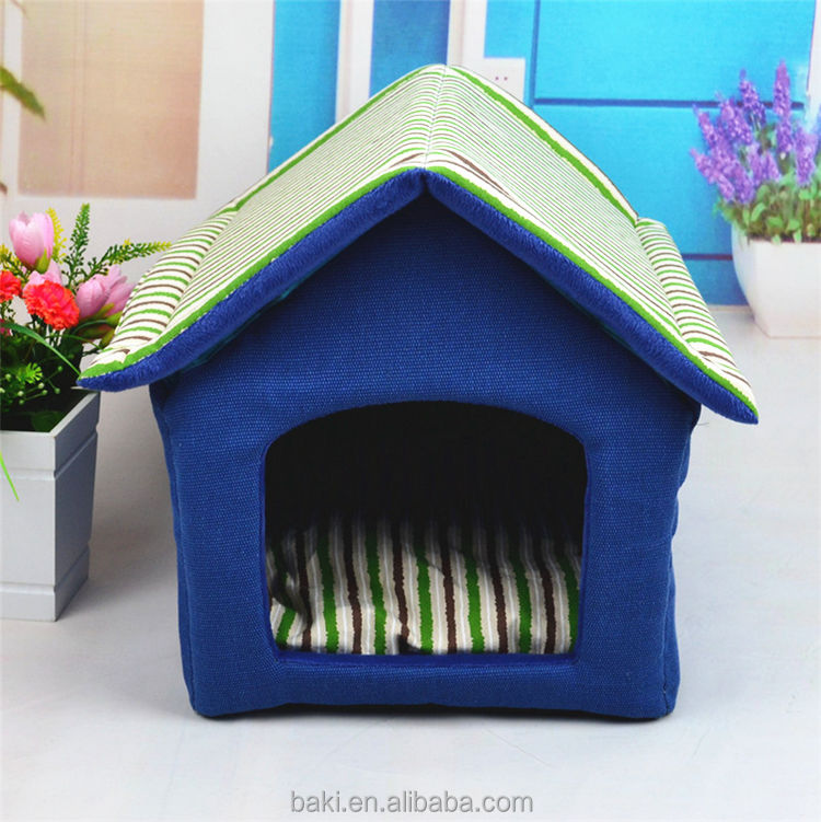 Wholesale Pet Products Memory Foam Pet Dog Cave Kennel Bed House