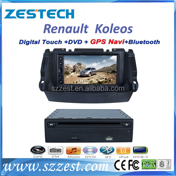 ZESTECH brand new OEM Double din car stereo for Renault Koleos 2 din car radio with navigation China 3g bluetooth TV tuner