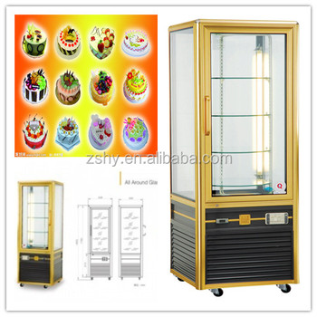 Supermarket Revolving upright display refrigerator
