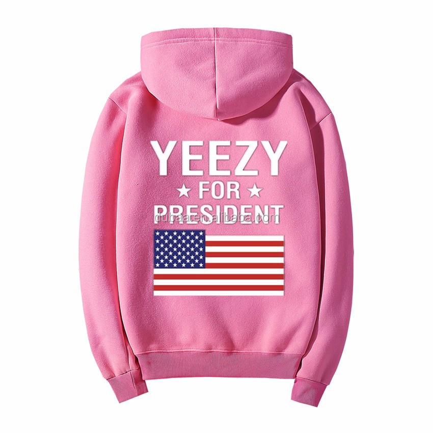 U.S Flag Hoodie West Tour Pop Up Shop Hooded Sweatshirt American Flag Long Sleeve Hoodie