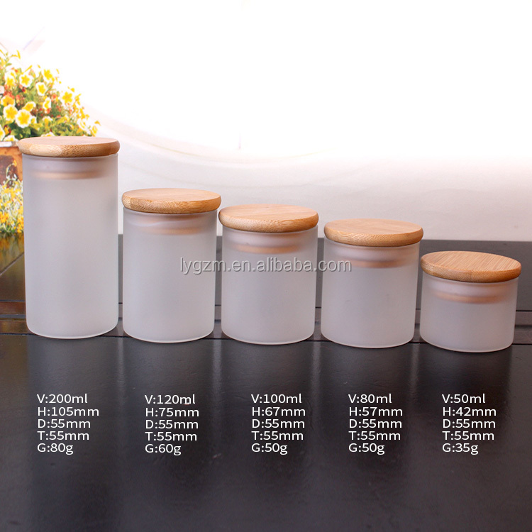 80ml Frosted Borosilicate Glass Storage Jar