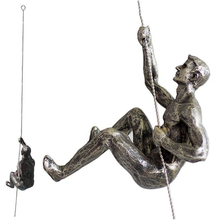 Unique Resin Made Climbing Man Wall Art Home Decor Sculpture