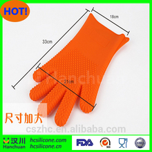 Kitchen Cooking Gloves Microwave Oven Non-slip Mitt Heat Resistant Silicone Home Gloves Cooking Baking BBQ Oven Pot Holder Mit