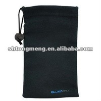 BlueMall Microfiber Sleeve Pouch Cover Case - Black for Apple iPhone 5 (TM-MFF-01)