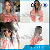 Wholesale Grayish and Rose Pink Awesome Hair Dye Wig Synthetic Lace Front Wig Heat Resistant Two Toned Ombre Wig