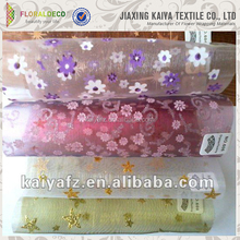 Flower Pattern Printed Organza Fabric