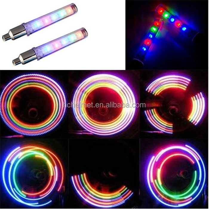 2015 HC Car Bike LED Flash Tyre Light led Bike Bicycle car Motorcycle tire Spoke Wheel Valve LED Flash alarm Light