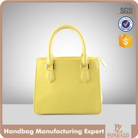 3846 2016 Summer Candy Color Handbag Fashion Stiff Wholesale Woman Shoulder Tote Bag with Faux Saffiano Leather
