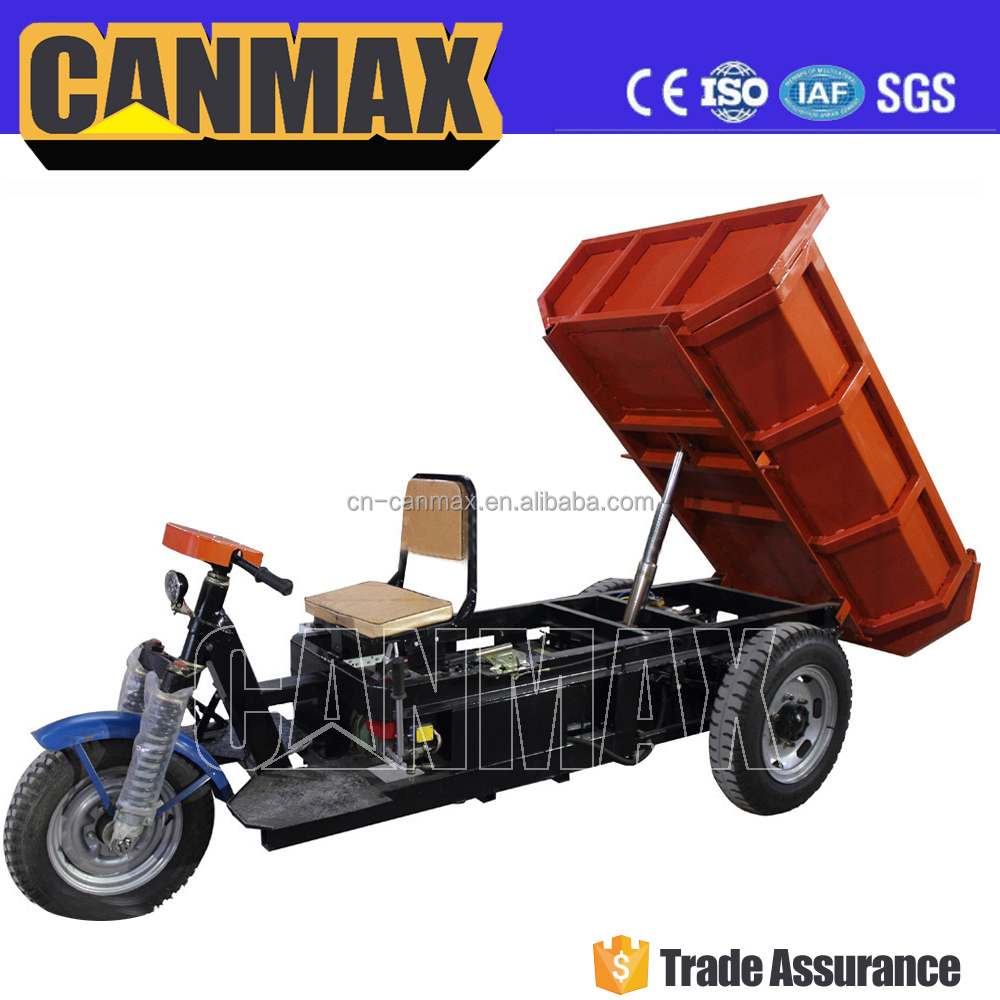 2017 Eco-Friendly Water-Proof Delivery Cargo 1000W 48V Electric Three Wheel Tricycle Dumper