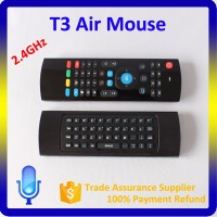 T3 Air Mouse with Full Keys IR Learning, Remote Control for Google Android TV Mini PC