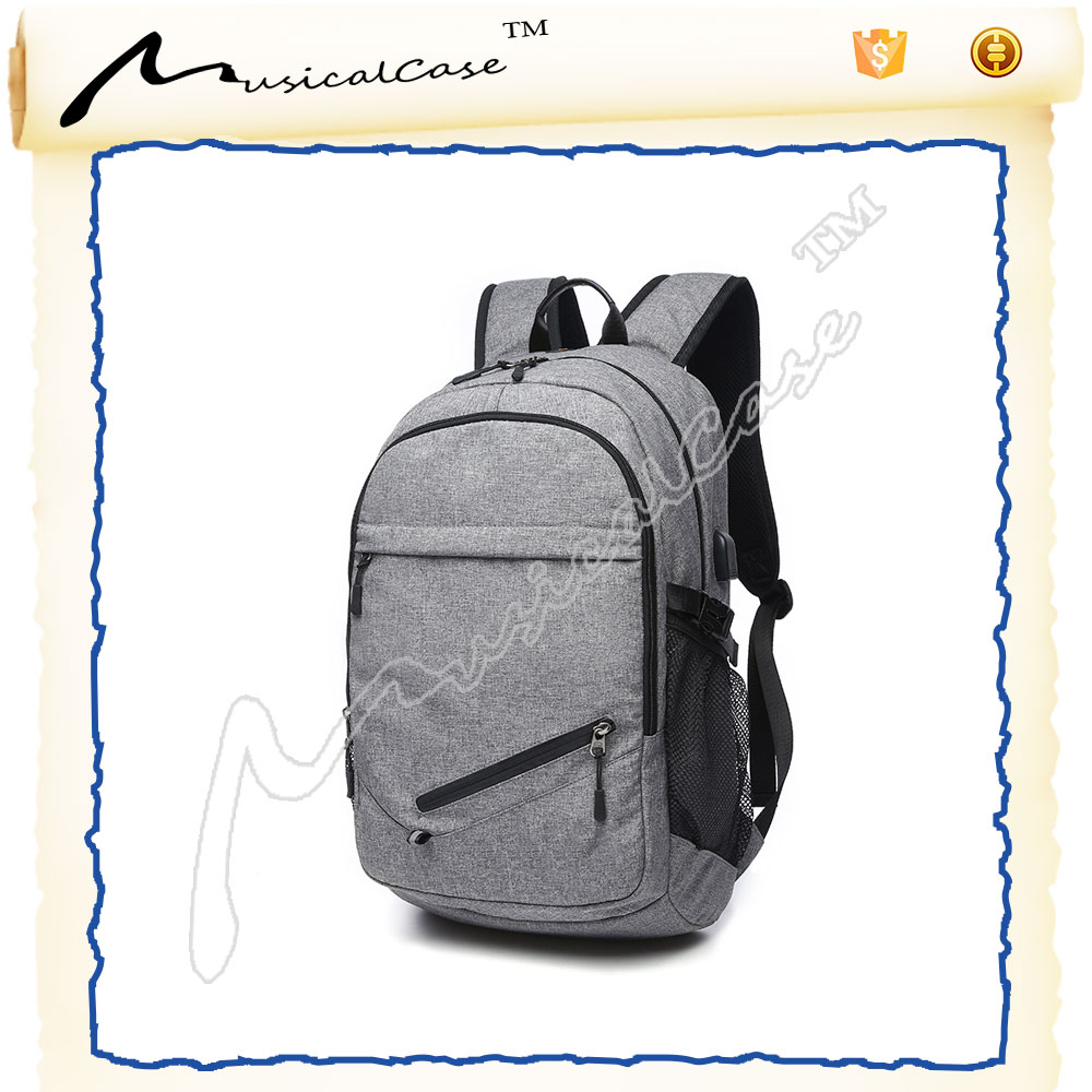 Business Water Resistant Polyester Laptop wheeled backpacks with USB Charging Port
