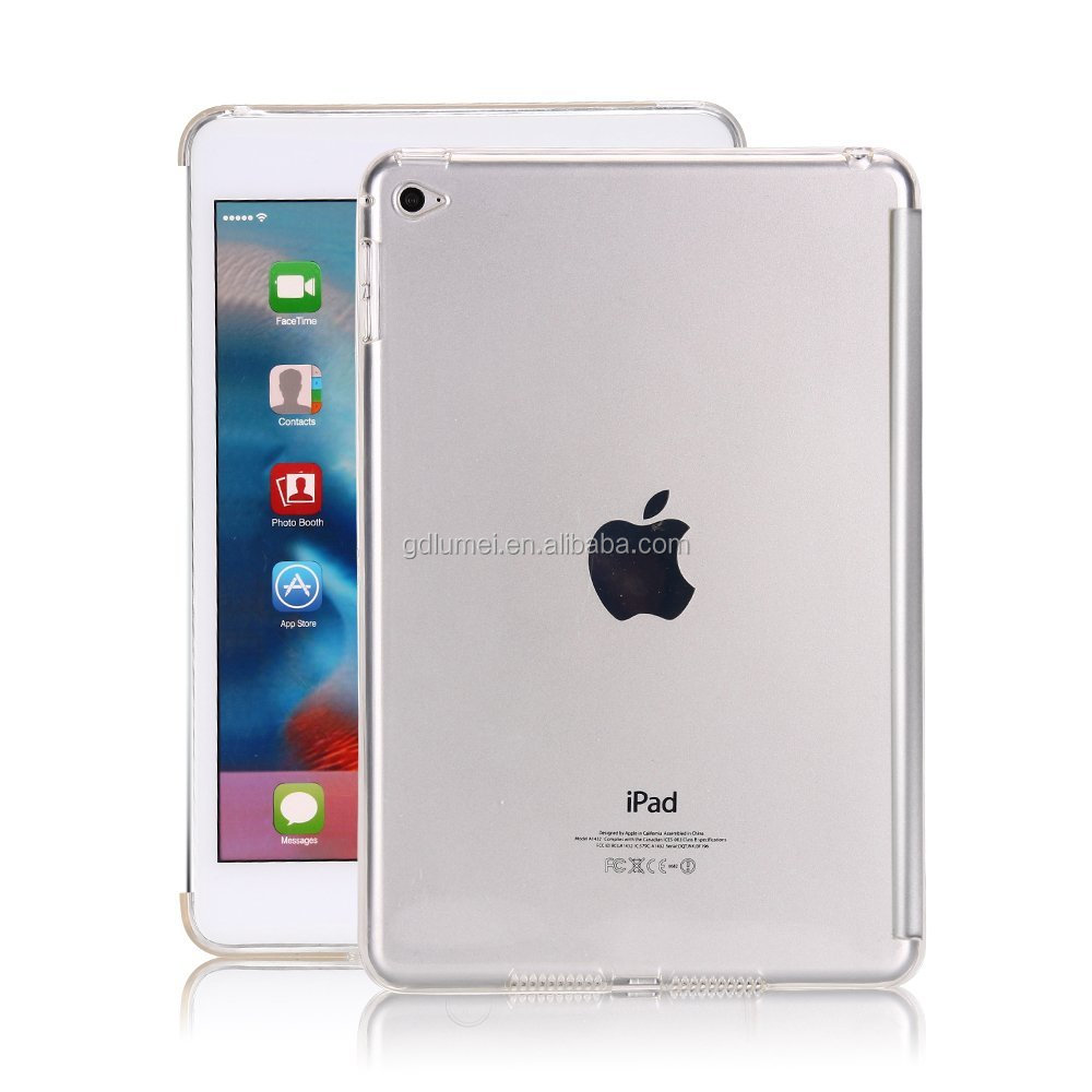 Hot selling Crystal Clear ultra Slim TPU Case Cover for Apple ipad mini4