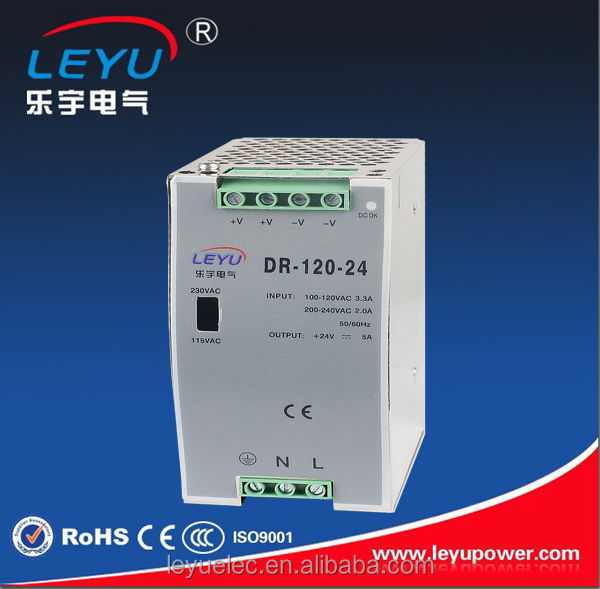 Constant current 120w din rail single output power supply