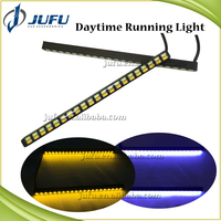 Universal 5630SMD auto DRL dual color white amber slim daytime running light
