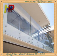 6.38mm 8.38mm 10.76mm tempered laminated glass balcony panels