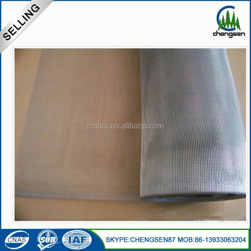 Aluminum one way vision dust proof window screen mesh
