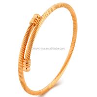 Alibaba Express Turkey Wire Design 14Kt Bangle Bracelets