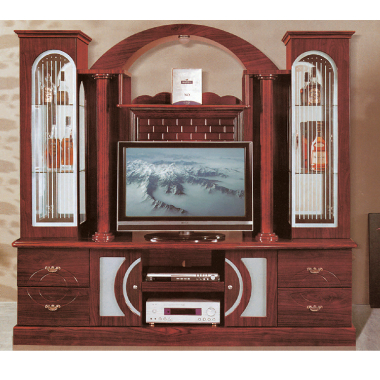 Arabia wooden tv cabinet designs 838 mdf home wall unit sets furniture