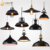 Black vintage bronze Metal pendant light industrial pendant lighting