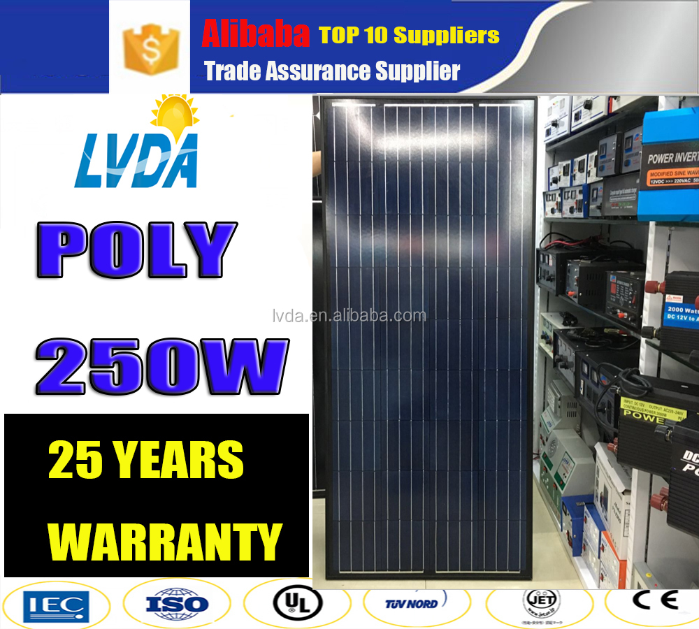 Factory sale All Black Best price panel solar 250w poly solar panel 250w 260w 270w 280w for off grid solar system