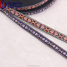 various lattice pattern custom 2.5cm polyester fabric trial jacquard ribbon for apparel accessory
