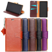 Customized Logo Welcome Litchi Pattern Imported Genuine Leather Wallet Case for Samsung Note 8