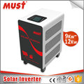 Low frequency 24V 48V 12000W hybrid photovoltaic solar power inverter with 60A/180A mppt charge controller