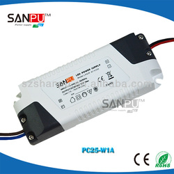 CE ROHS 25w single output 110v ac dc 700ma led rgb dali dimming driver