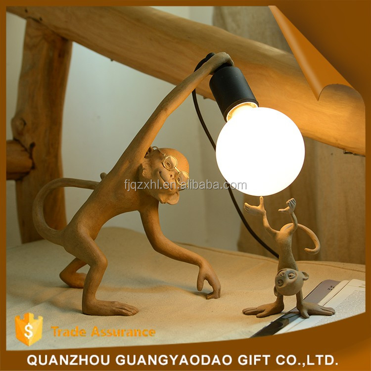 Mini Garden Decoration new home decoration table lamp resin craft