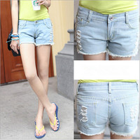 D70736T New style girls jean shorts 2014 summer