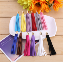 Wholesale 8cm Mutil Color Suede Leather Tassel,100pcs gold cap tassel for diy