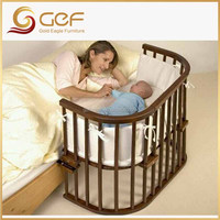 Baby crib attached mother's bed new born baby cot GEF-BB-12