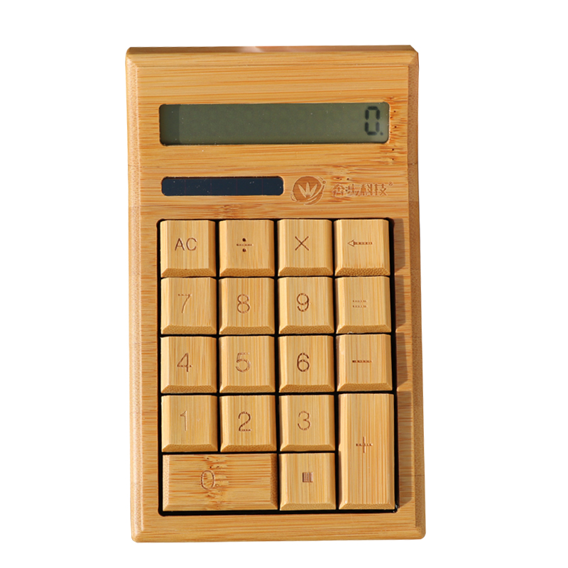 Hot selling Bamboo funny wooden function tables calculator CS19