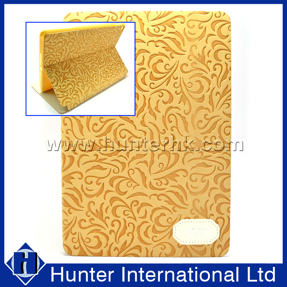 Standable Textured Floral Tablet Case For iPad Mini 4