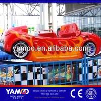Amusement Track Rides Rotating Speed Rides Mini Flying Car / Electric Rally Car for Children!