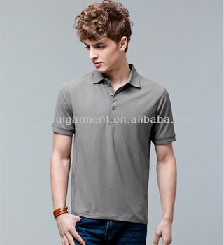 men's 100% cotton fashion style short sleeve breathable polo shirts with spread collar