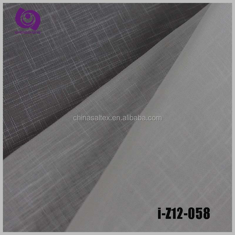 Factory Wholesale Poly Jacquard Linen Voile Slub Curtain Drapery Fabric