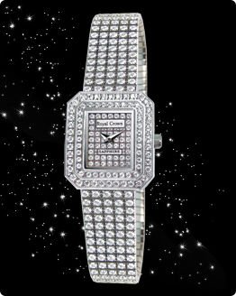 Royal Crown Jewelry Bling Diamond Watch 443pcs Hearts and arrows cut diamonds