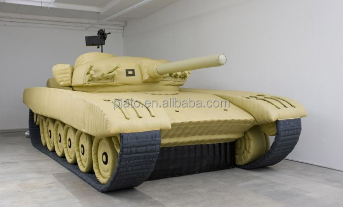 Promotional giant inflatable military decoy ,customized advertising inflatable army tank model for sale