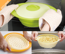 3 in One Collapsible Silicone Steam Cooker for Microwave