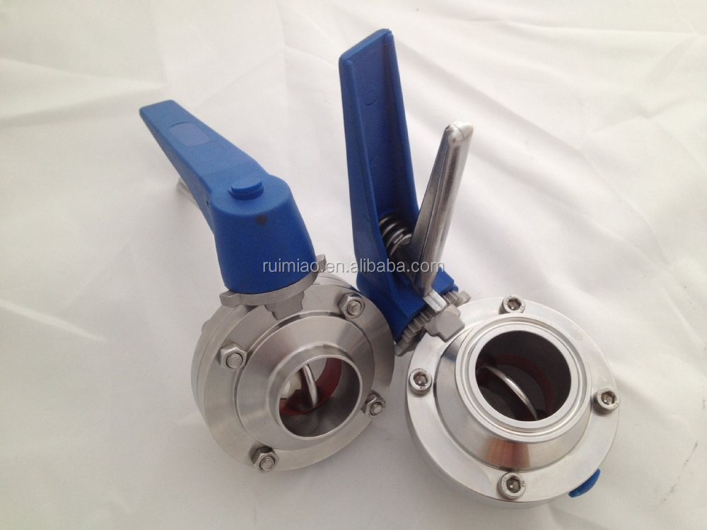 stainless steel dairy sanitary butterfly valve