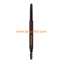 Waterproof high quality makeup cosmetics eyebrow pencil with brush GMP makeup factory