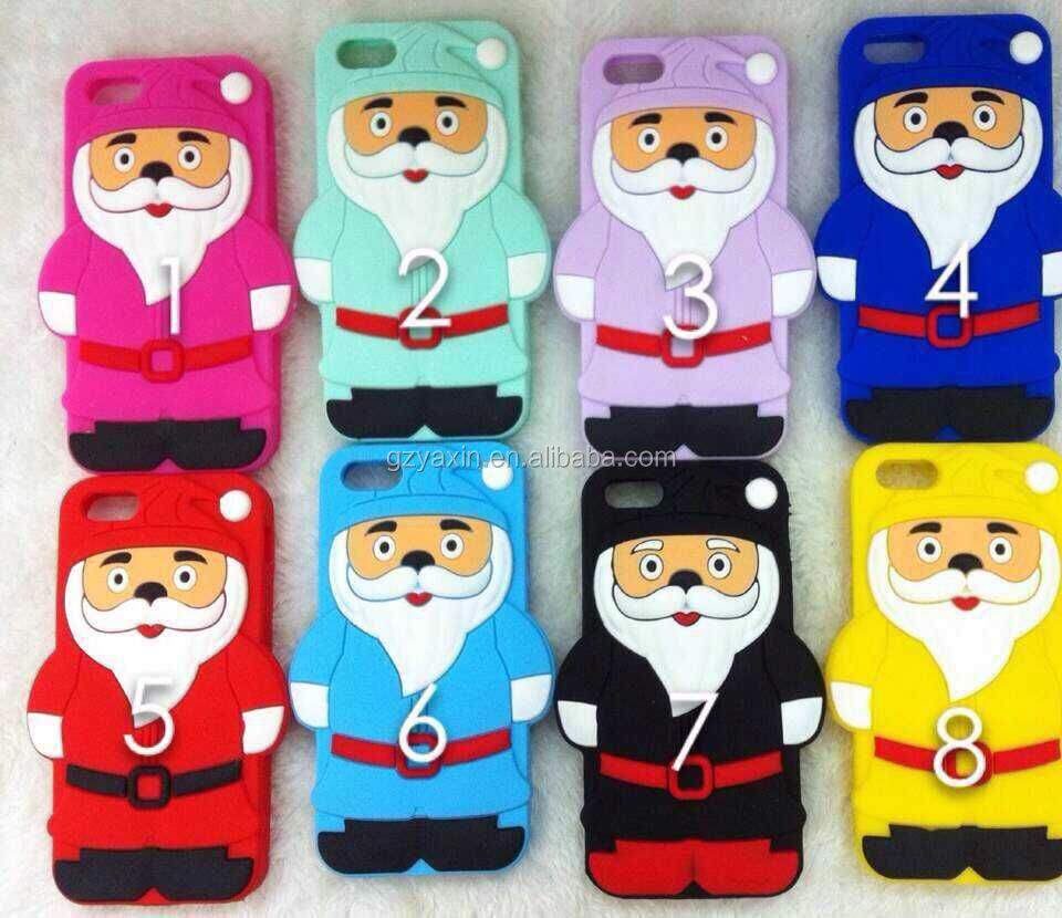 Christmas back cover Father Christmas case For IPhone6,Christmas silicon case for IPhone 5 6 6s