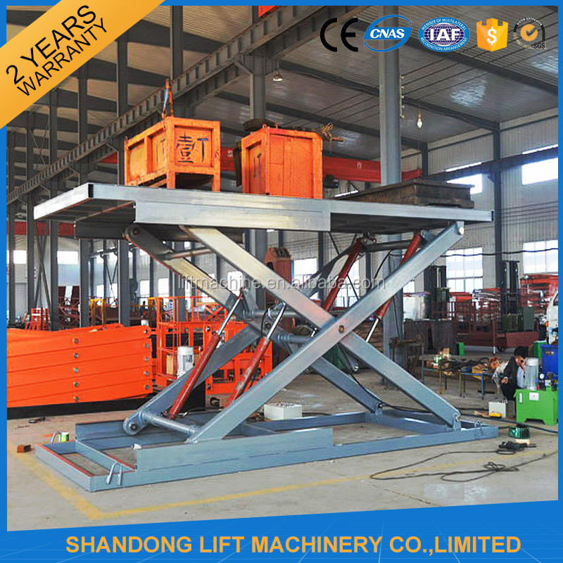 China Alibaba Electric Powered Loading 5000kgs Capacity Hydraulic Lift for Car Wash