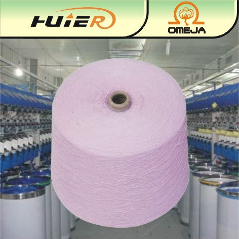 recycled cotton yarn cotton polyester yarn 32s for knitting and weaving