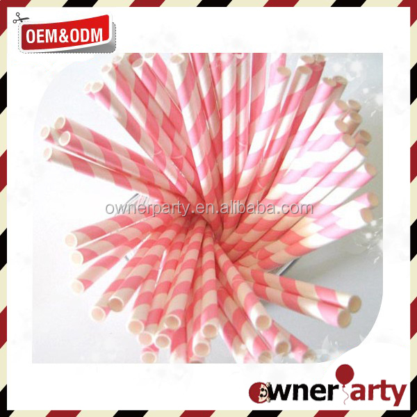 Paper Straws Drinking Decoration Straw for Birthday, Wedding, Christmas, Celebration Parties, Gold and Pink,
