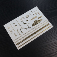 gold temporary tattoo maker, gold foil tattoo