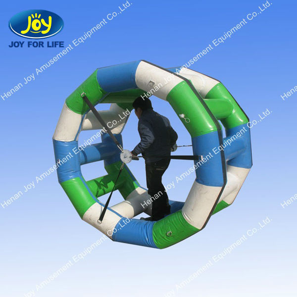 portable inflatable floating walking water play roller wheel exporter