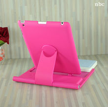 2013 Popular&Cheap 360 rotate hot pink keyboard case for ipad