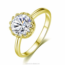 Maverick Wholesale Fashion Jewelry Gold Ring Wedding Ring Zircon Gothic Crown Ring For Women And Girls
